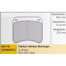 CL-BRAKE - RC6 FÉKBETÉT 59,4mm/51,8mm/10,0mm