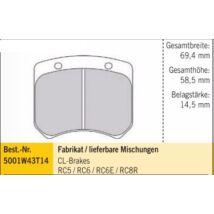 CL-BRAKE - RC6E FÉKBETÉT 69,4mm/58,5mm/14,5mm