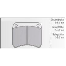 FERODO DS2500/DS3000 FÉKBETÉT ELSŐ 59,4mm/51,8mm/10,0mm