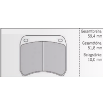 PAGID RSH3 FÉKBETÉT 59,4mm/51,8mm/10,0mm