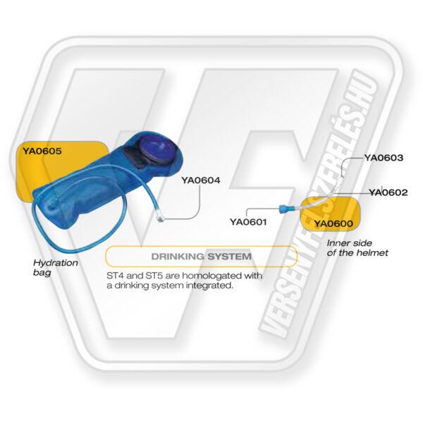 STILO ST5 and ST4 Helmet Drinking System kit (YA0601/YA0602/YA0603)